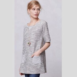 Anthropologie Shimmered Boucle Tunic